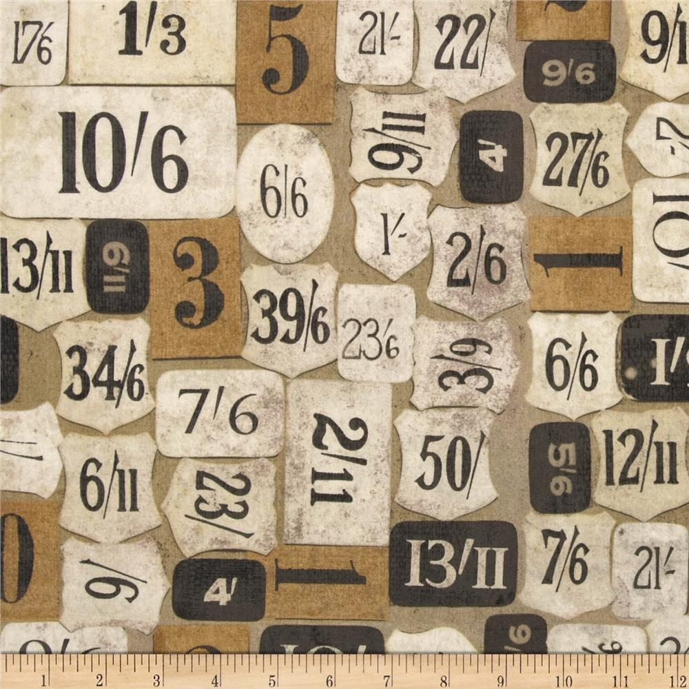 Tim Holtz Eclectic Elements Mercantile Taupe