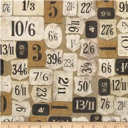 Tim Holtz Eclectic Elements Mercantile Taupe Fabric