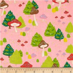 Christmas Time North Pole Mushroom Pink