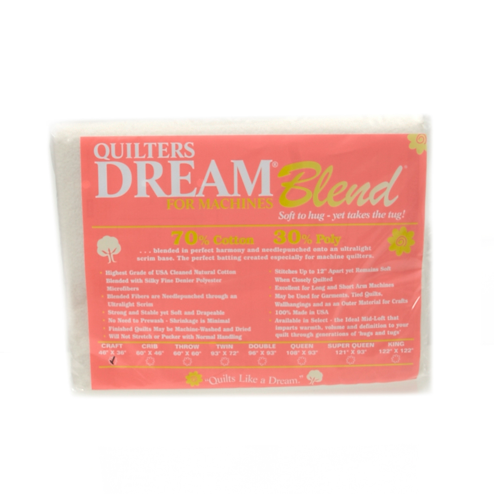 Quilter's Dream Blend (46'' x 36'') Craft by Quilter's Dream in USA