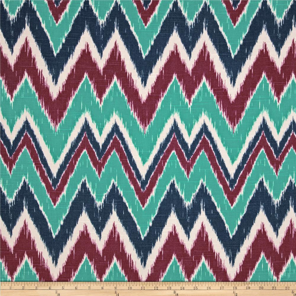 Duralee Home Mell Chevron Peacock
