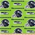 NFL Cotton Broadcloth Seattle Seahawks Green/Blue