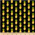 Riley Blake Fresh Market Pineapple Black
