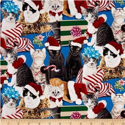Christmas Pets Cats Blue