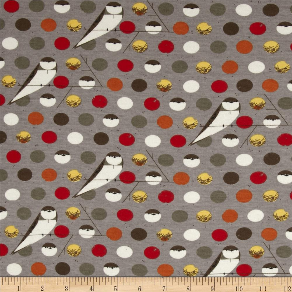 Birch Organic Interlock Knit Charley Harper Bank Swallow Fall