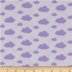 Dreamland Flannel Dream Clouds White/Lavender Lily