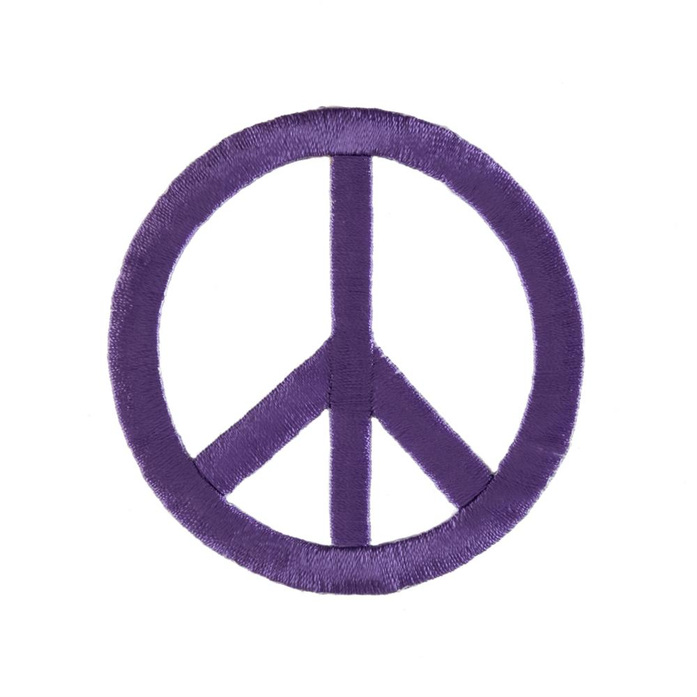 Peace Sign Applique Purple