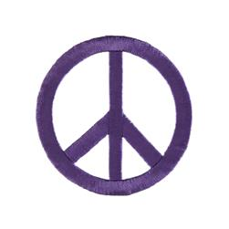 Peace Sign with Large Ray Applique Purple