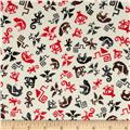 Kanvas Spirit Symbols Cream/Red