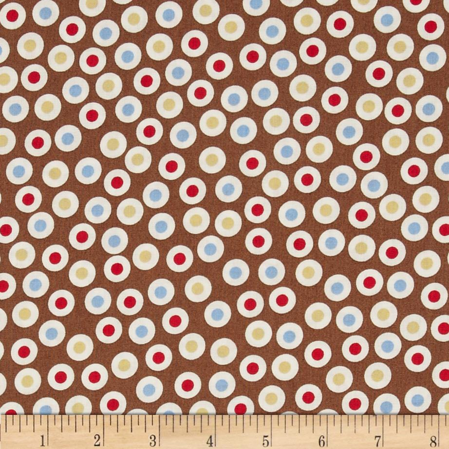 Zoe & Zack Circle Dots Brown/Blue