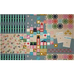 Cotton & Steel Playful Canvas Playroom Teal Fabric