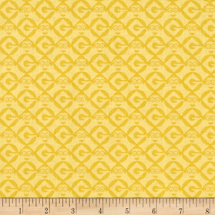 Universal Despicable Me 1 in A Minion Set Geo Blender Pale Yellow Fabric by Quilting Treasures in USA