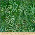 Batik by Mirah Day Cruise Florals Sulphur Green