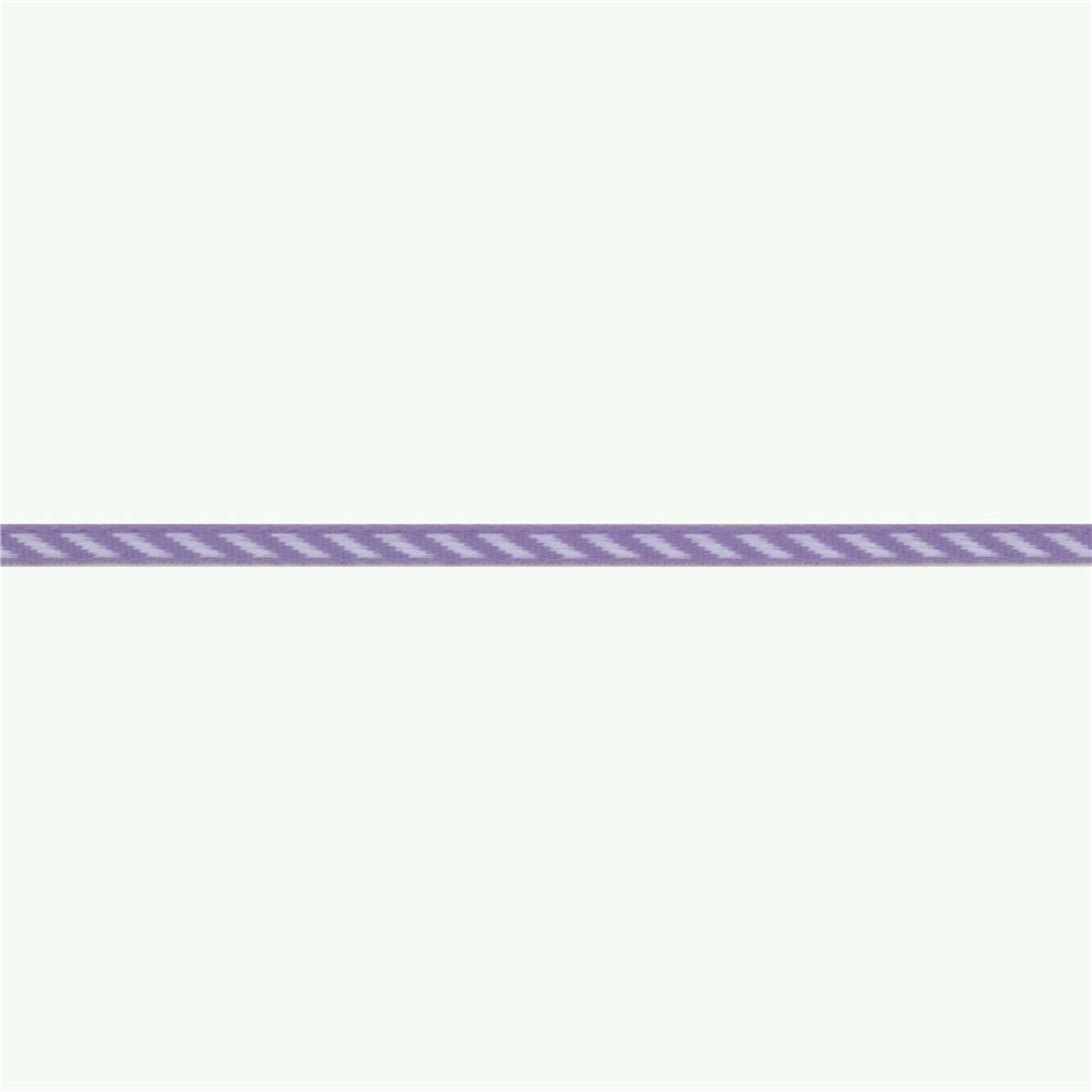 1/8'' Grosgrain Ribbon Diagonal Stripe Lavender