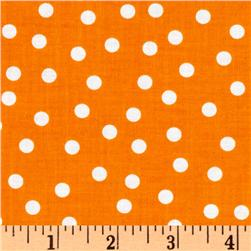 Remix Polka Dots Tangerine Fabric