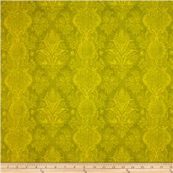 Joyful Blooms Damask Olive