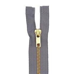 "Coats & Clark Heavy Weight Brass Separating Zipper 18"" Slate"