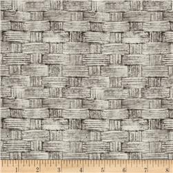 Tim Holtz Eclectic Elements Basket Grey Fabric