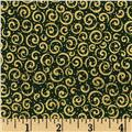 Holiday Metals Metallic Scroll Green