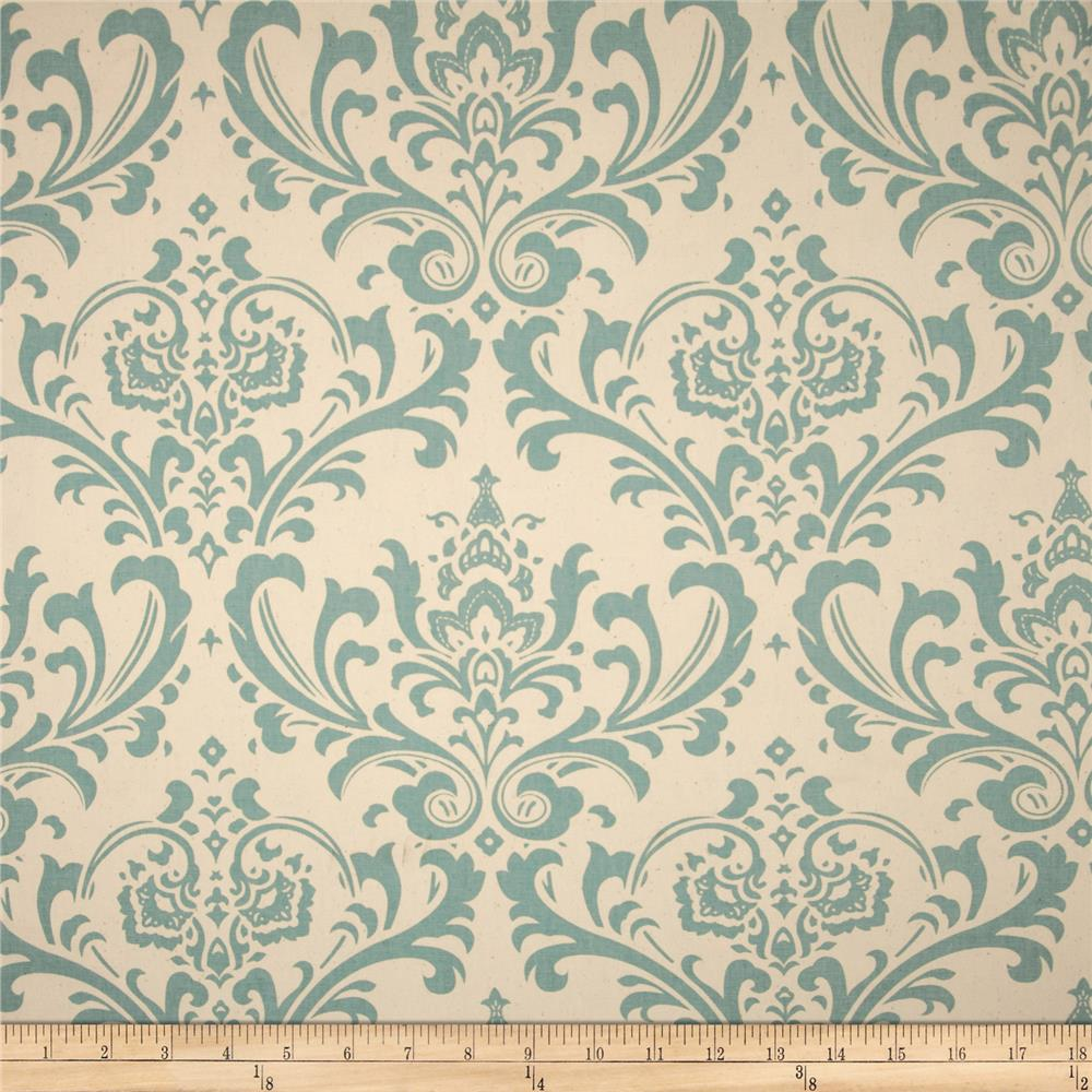 Premier Prints Traditions Village Blue/Natural