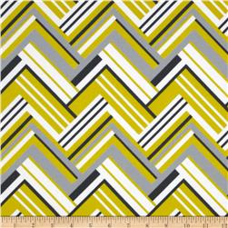 Michael Miller Pastel Pop Citron Gray Flannel Virginia Citron