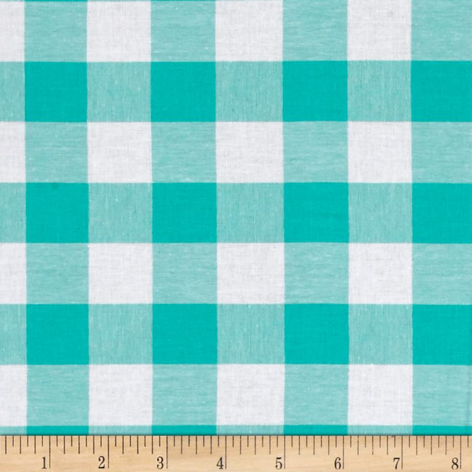 Cotton + Steel Checkers Yarn Dyed Woven 1'' Mint Chip Fabric