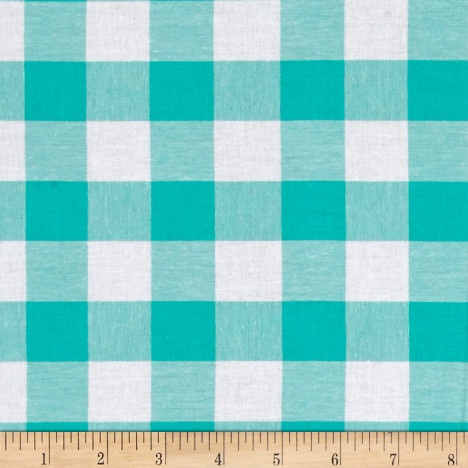 Image of Cotton + Steel Checkers Yarn Dyed Woven 1'' Mint Chip Fabric