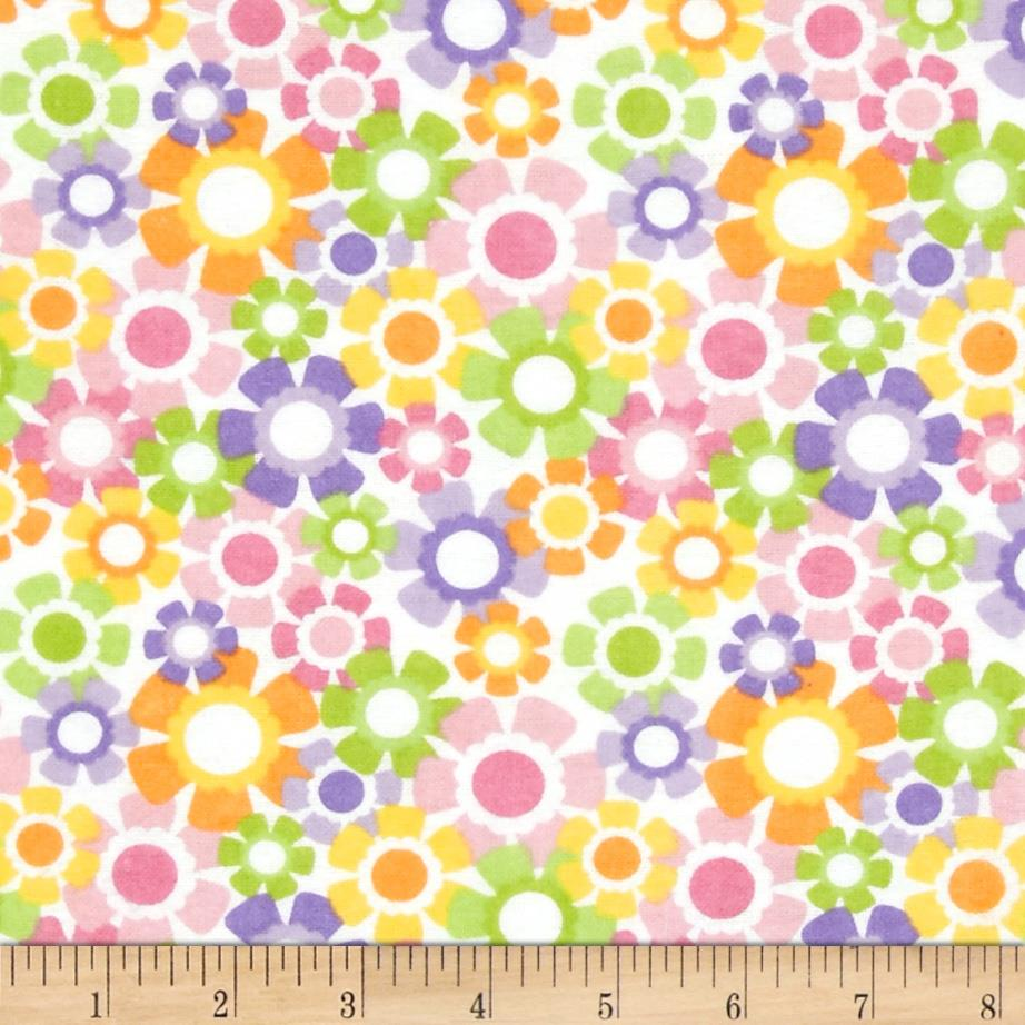 Alpine Flannel Pretty Floral Pink