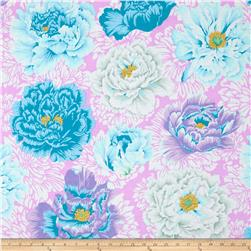 Kaffe Fassett Collective Brocade Peony Powder Fabric