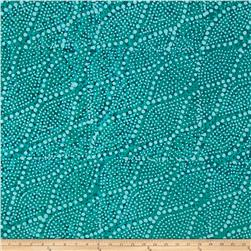 Indian Batik Leaf & Vine Dot Aqua
