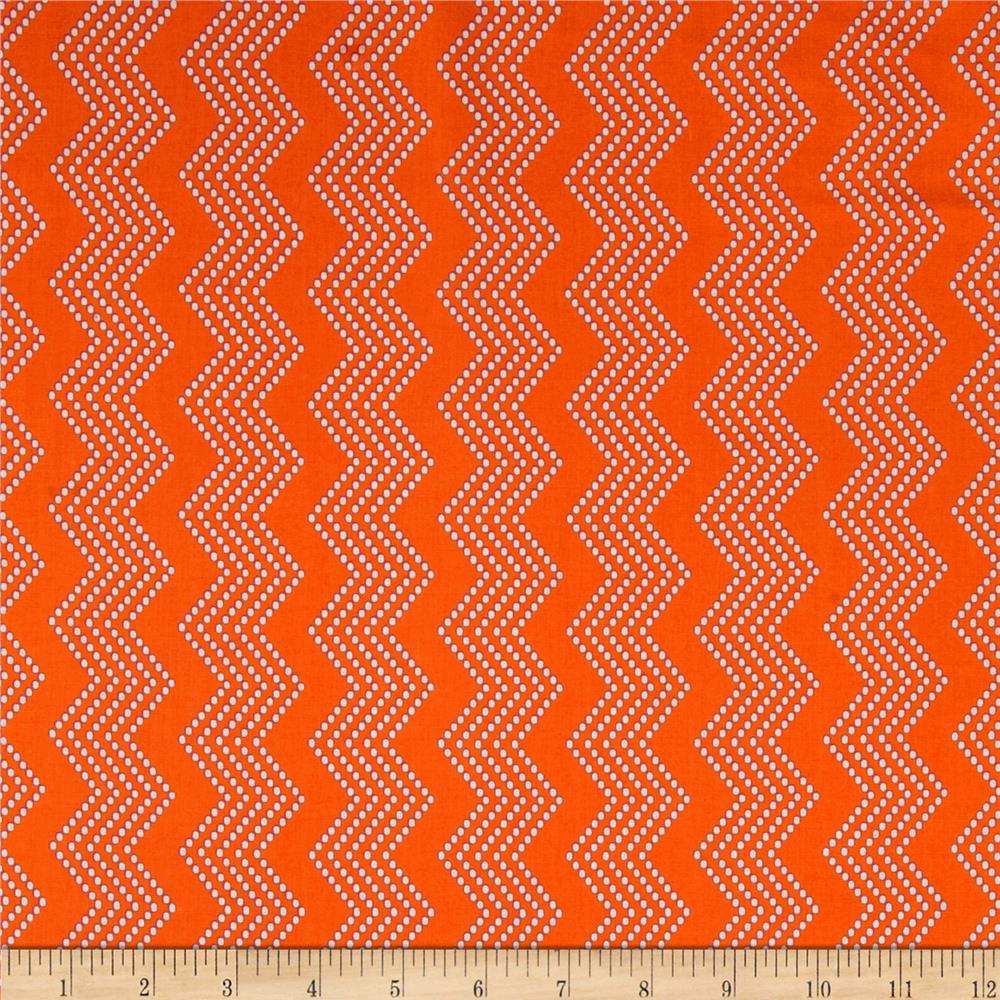Mosaica Chevrons Orange/White