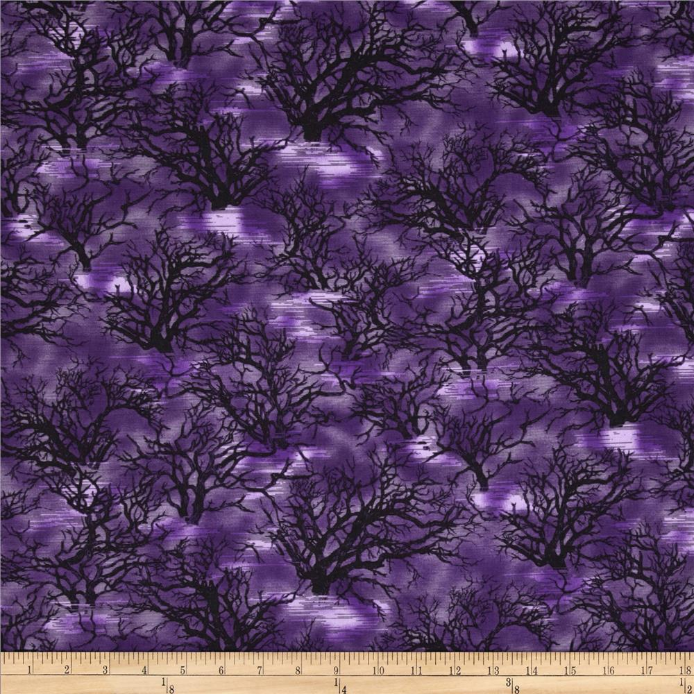 Sleepy Hollow Creepy Trees Purple