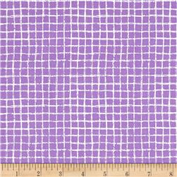 Michael Miller Tweet Me Pretty Grid Purple