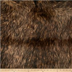 Shannon Faux Fur Golden Wolf Gold/Brown