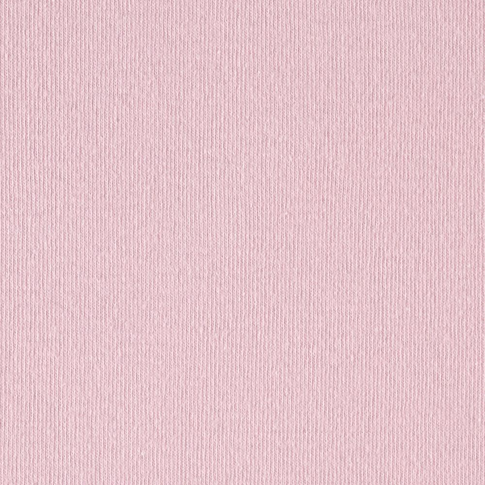 Stretch Cotton Baby Rib Knit Solid Pink