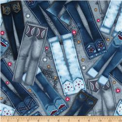 Diamonds & Denim Piled Jeans Blue