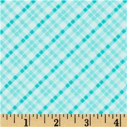 Kanvas Safari Playground Micro Plaid Aqua