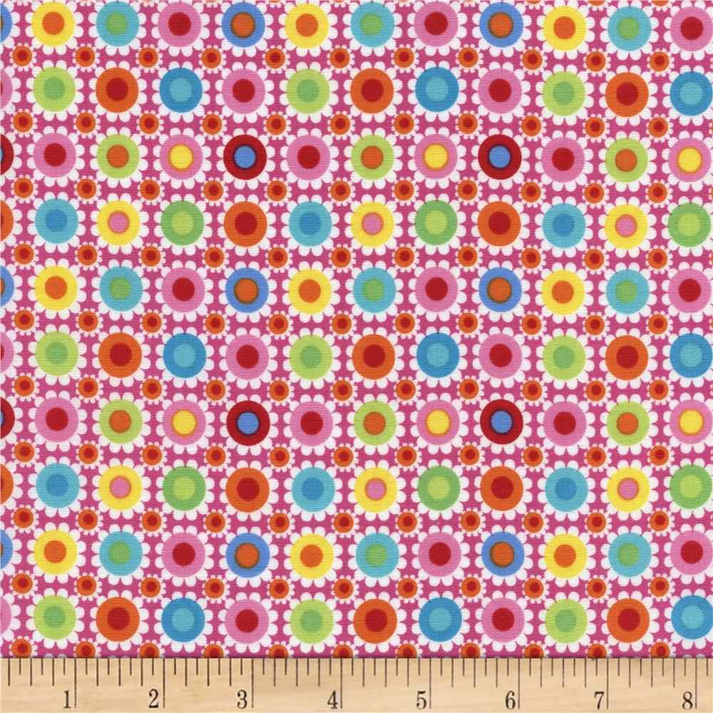 Timeless Treasures Tribeca Dot Floral Pink