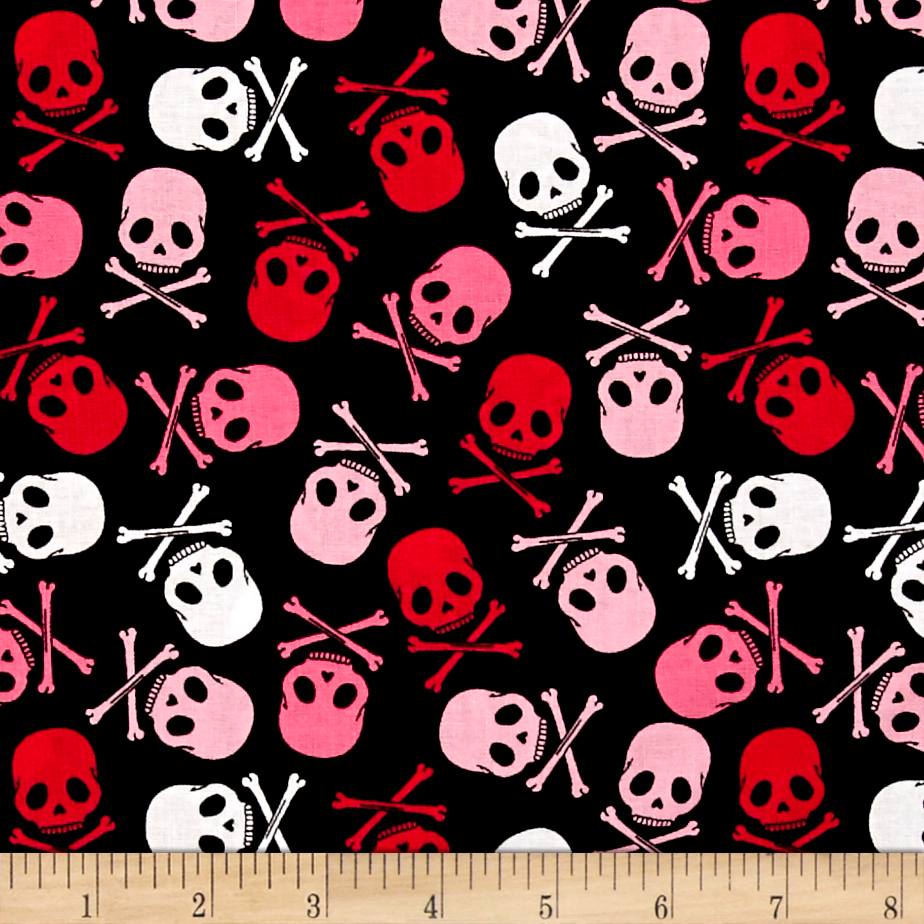 Image of Punk Rock Skull Scatter Fabric