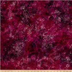 Timeless Treasures Tonga Batik Paisley Fashion Floral Plum