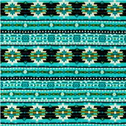 Aztec Hatchi Sweater Knit Aqua/Green/Black