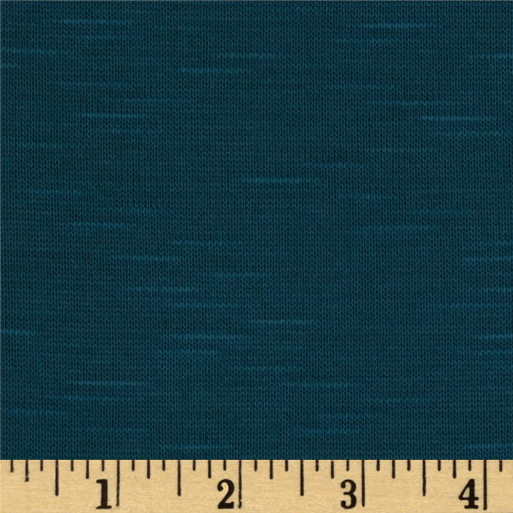 Stretch Slub Hatchi Knit Teal