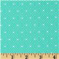 Riley Blake Lazy Day Flannel Hexagon Teal