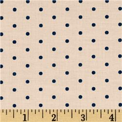 Kaufman Cambridge Cotton Lawn Mini Print Dots Creamsicle