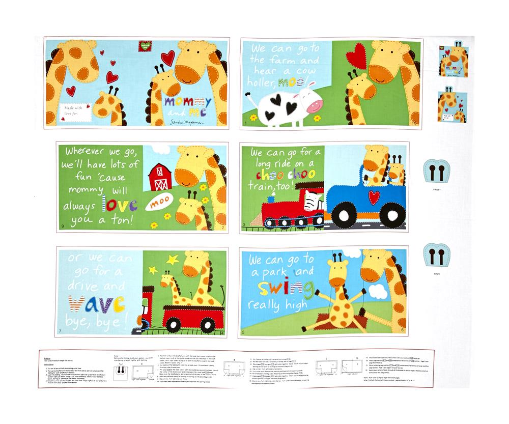 "Huggable & Loveable Books Mommy and Me Soft Book 36"" Panel Multi"