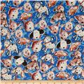 Paw Prints Puppies Blue