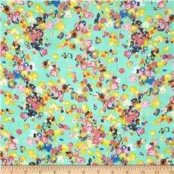 Floral Chiffon Pink/Royal/Yellow