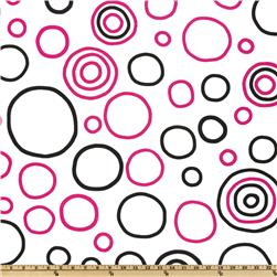Premier Prints Bubbles Black/Candy Pink
