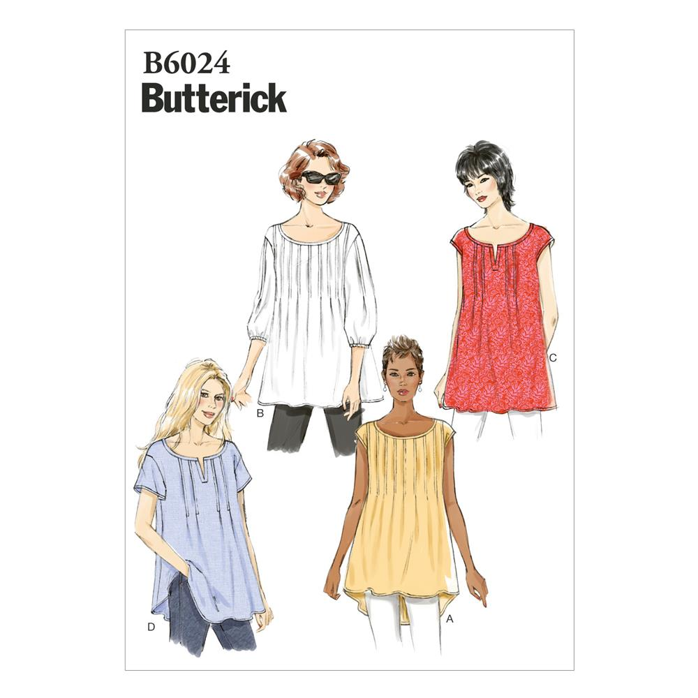 Butterick Misses' Top Pattern B6024 Size 0Y0