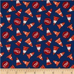 Traffic Cones and Stop Signs Navy